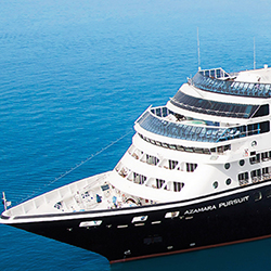 Azamara Pursuit luxury boutique ship sails to unique ports in worldwide destinations.