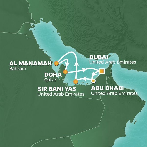 Azamara Cruises | 7-Nights Roundtrip from Dubai Cruise Iinerary Map