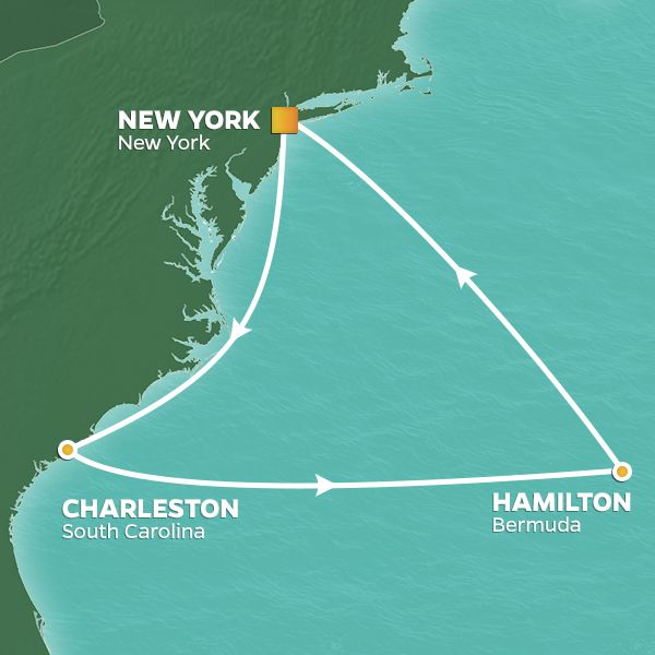 Azamara Cruises | 11-Nights Roundtrip from New York Cruise Iinerary Map